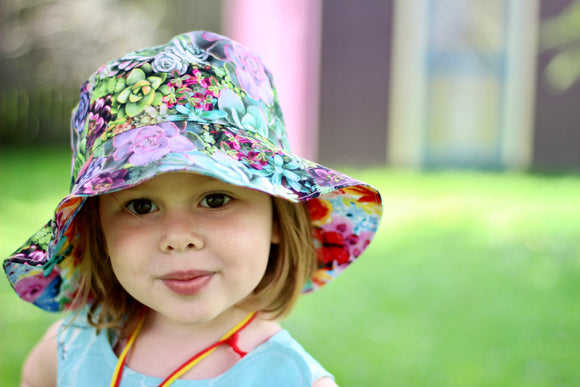 Succulents Reversible Sun Hat