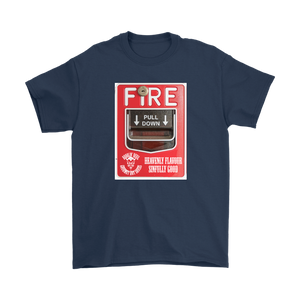 "Droolin' Devil ""The cause of the fire..."" Gilden Mens T-Shirt"