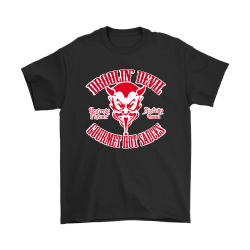 Droolin' Devil Logo Tee Red on White