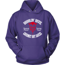 Droolin' Devil Tribal  Hoodie - Red devil head white text logo