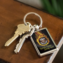 "Droolin' Devil Fire In The Hole"" Keychain"