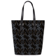 3D Vintage Black Vertical Tote Bag - Roucy