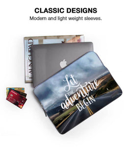 "Adventure For Lifetime Laptop Sleeve 15"" - Roucy"