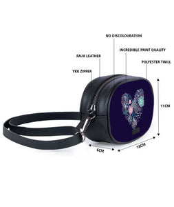 Blue Feel Heart Tablet Belt Bag - Roucy