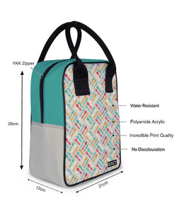 Colored Folks Trapeze Lunch Bag - Roucy