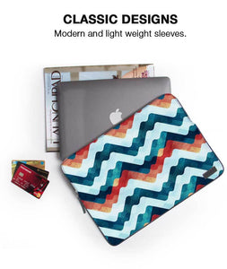 Coloured Waves Laptop Sleeve - Roucy
