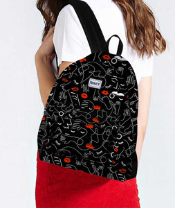 Crazy Hands Black Designer Backpack