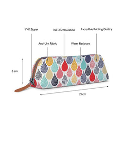 Designer Dotted Droplets Tan Essential Pouch - Roucy