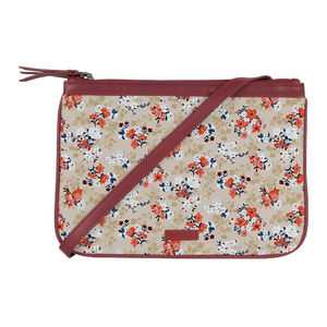 Floral Treasure Wine Dual Zip Classic Sling - Roucy