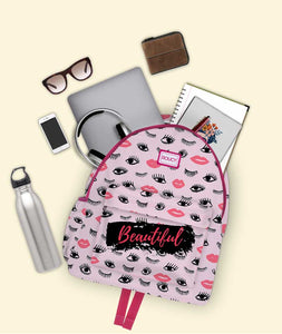 Full Of Beauty Pink Backpack - Roucy