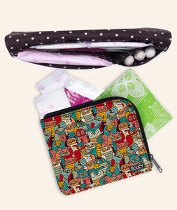 Funny Owls Sanitary Pouch Set - Roucy