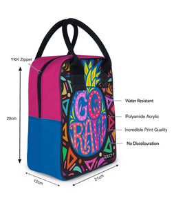Go Raw Trapeze Lunch Bag - Roucy