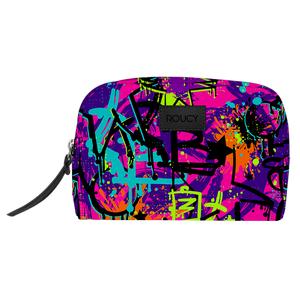 Graffic Print Toiletries Pouch - Roucy