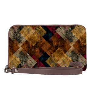 Intense Tile Umber Brown Women's Clutch - Roucy