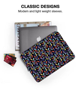 Leaf Patches Laptop Sleeve - Roucy