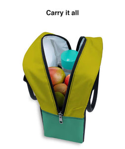 Leafy Fruit Trapeze Lunch Bag - Roucy