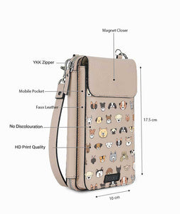 Pet Shop Beige Premium Mobile Sling Bag