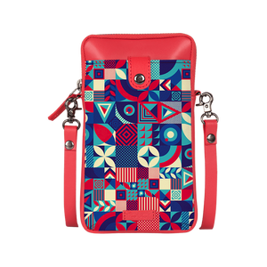 Pick The Pattern Candy Red Mobile Sling Bag - Roucy