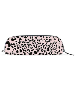 Pink Leopard Black Essential Pouch - Roucy