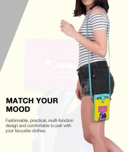Poppy Cassette Aquamarine Mobile Sling Bag - Roucy