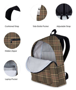 Tartan Checks Black Backpack - Roucy