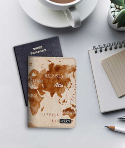 The World Is Here Passport Cover - Roucy