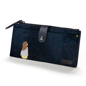 To The Stars Black Vegan Fold Wallet