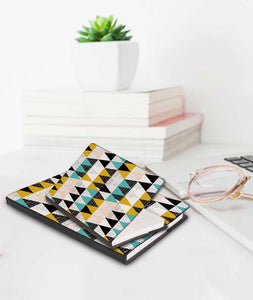 Triangular Angles Black Designer Notebook - Roucy