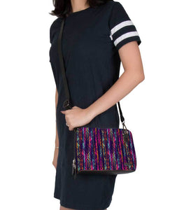 Tribal Threads Jade Black Mini Shoulder Bag - Roucy
