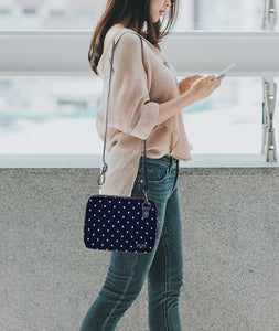 Turtle Dots Space Blue Mini Shoulder Bag