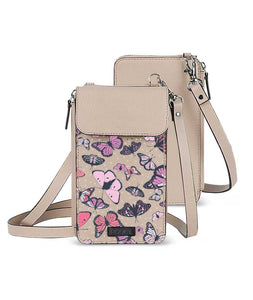 Vintage Beauty Flies Beige Premium Mobile Sling Bag