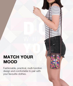 What You Love Umber Brown Mobile Sling Bag - Roucy