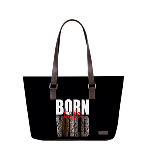 Wild As An Animal Brown Horizontal Tote Bag