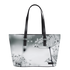 Winter Plant Jade Black Horizontal Tote Bag