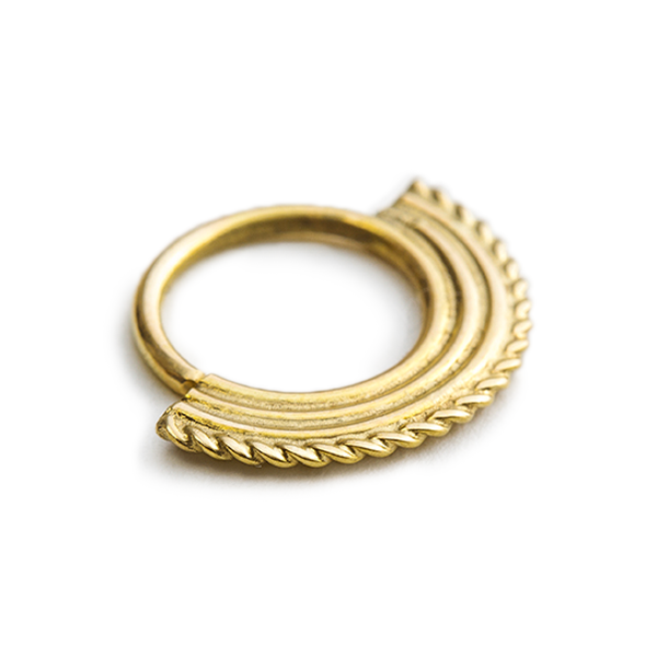 14k Solid Gold Classic Tribal Nose Ring Jewelry - Neomi