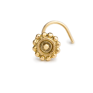 14k Solid Gold Sun Symbol  Nose Stud Piercing Jewelry - Adele