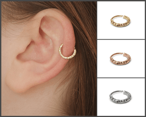 Gold Chunky Cartilage Earring - Amare | Studio Meme