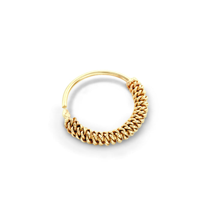 14k Gold Chain Style Nose Ring Jewellery - Romina