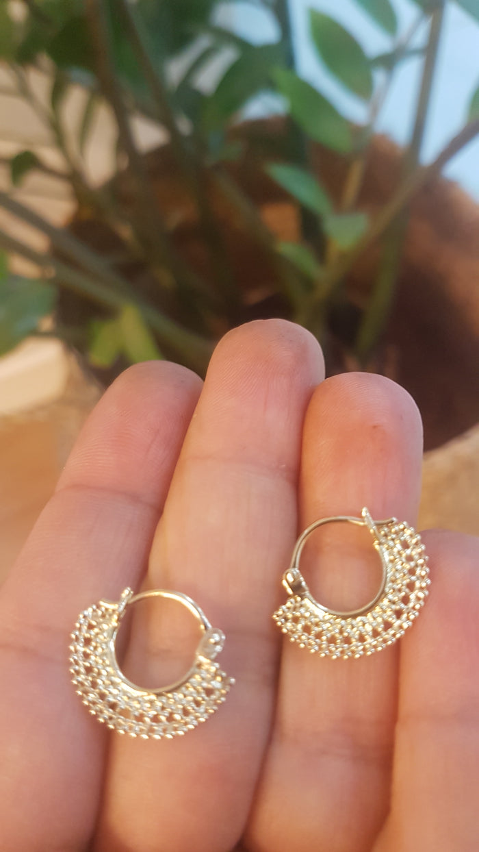 Gold Hoop Earrings - Cleo