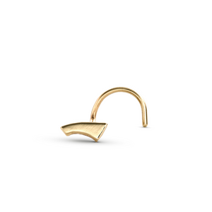 14k Solid Gold Handcrafted Nose Piercing Jewelry - Tee