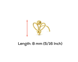 14k Solid Gold Butterfly Tragus Screw Ear Jewelry - Sophie