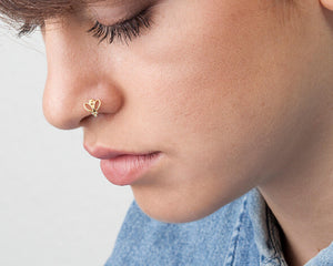 Diamonds Butterfly Nose Ring - Ashley