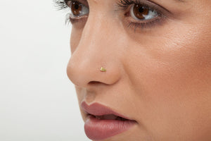 14K Genuine Solid Gold Elegant Look Nose Stud  - Dee