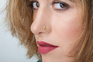 Leaf Nose Piercing Gold Jewelry - Alae