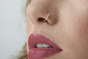 14 K Gold Nose Hoop Rings - Scarlette