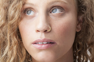 Gold Nose Ring - Laura
