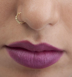 14k Solid Gold Indian Degrade Nose Ring Jewelry - Leonie