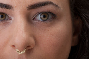 Indian Nose Ring in 14k Solid Gold - Danielle