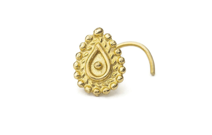 14k Solid Gold Indian Tragus Stud Ear Jewelry - Victoria