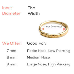 Nostril Piercing Jewelry in Solid 14k Gold - Kwame